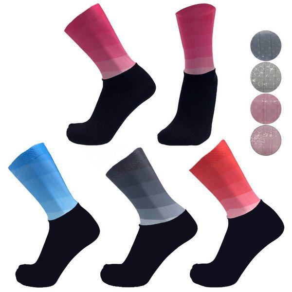 2 pairs/pack anti slip silicone socks whiteline cycling socks men bicycle sport running bike - from $26.90