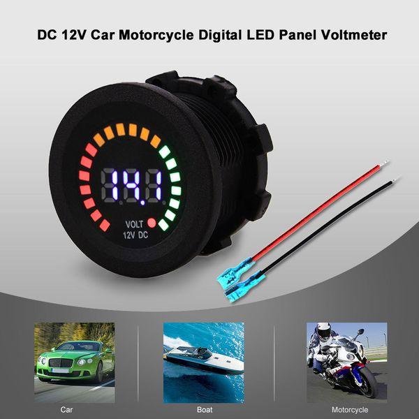Freeshipping DC 12V Auto Motorrad Boat Digital LED Panel Spannung Anzeige Volt Meter Voltmeter