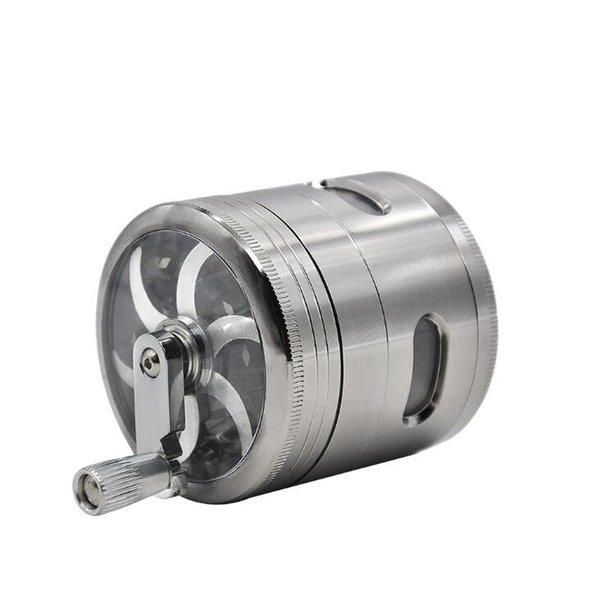 E881 high quality cheap price 63mm 4 layer hand-operated zinc alloy open-window grinder,high quality grinder 2019