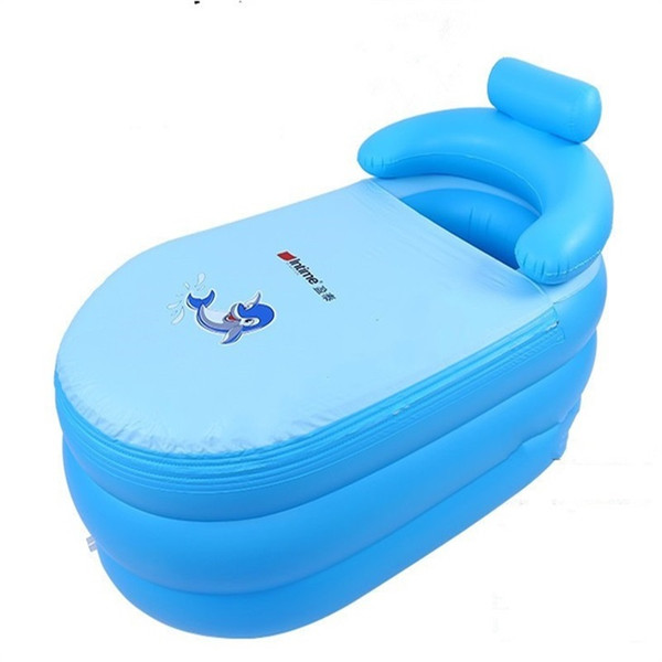Adult Inflation Bathtub Thicken Bath Bucket Keep Warm Foldable Bath Tub With Cover Anti Wear Stratified Air Bag 85pg C1