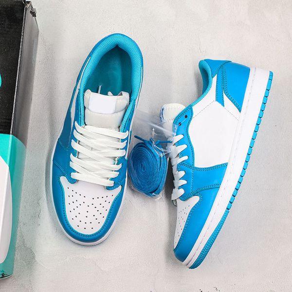 Acheter Nike Dunk SB 1 Bas SB UNC Hommes Designer Chaussures Pour Femmes Basketball Sport Sneaker Dunk Eric Koston 1s Caroline Du Nord Bule Sneakers