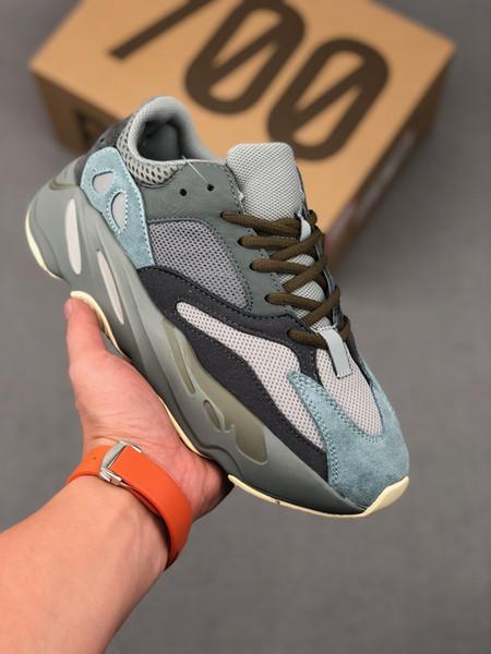 700 V2 Teal Blue Women Mens Runner Shoes Wave Runner Magnet Vanta Static 3M Salt Analog Geode Mauve Inertia 700 Kanye West Trainers Sneakers
