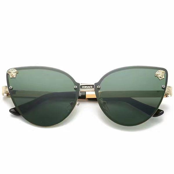 new luxury men brand designer sunglass attitude sunglasses square logo on lens men top quality sunglass shiny Black gold Brand New with box
