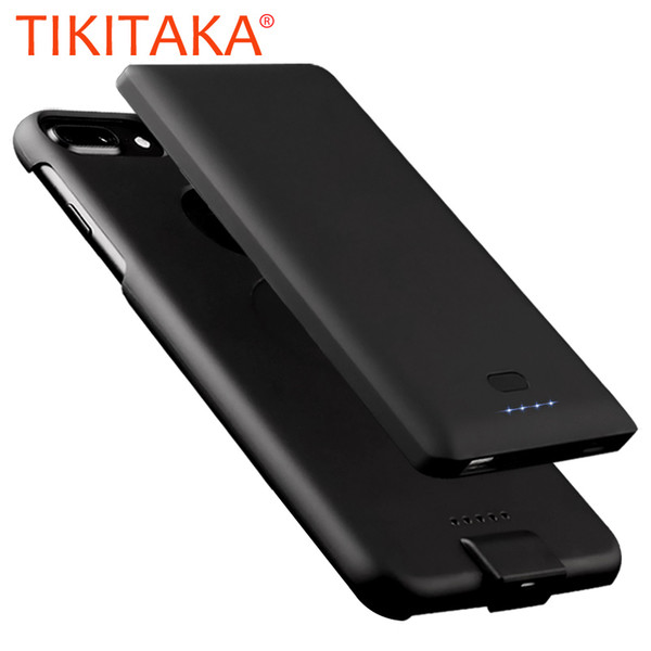 Removable 2 in 1 Battery Charger Case For iphone 8 7 6 6s Plus Cover TOP 4000mah/5000mah Charging Battery Power Bank Phone Cases