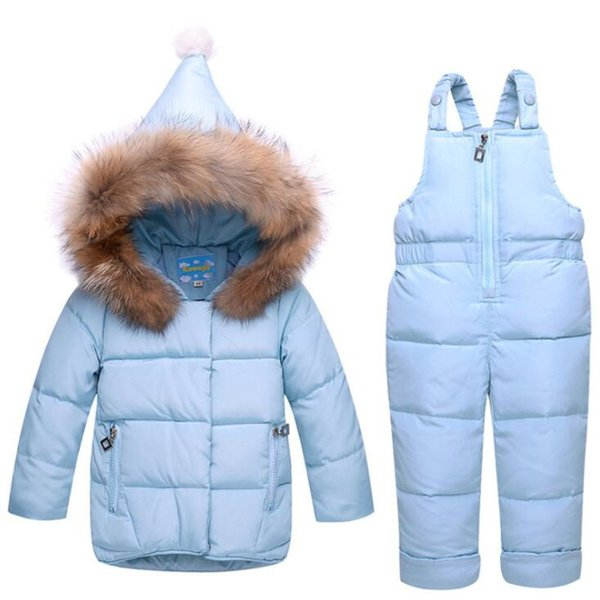 Baby Clothing Set Infant 80% White Duck Down Jacket+Jumpsuit Winter Snowsuit For Girls Kids Ski Suit Winter Overalls 2019 Winter