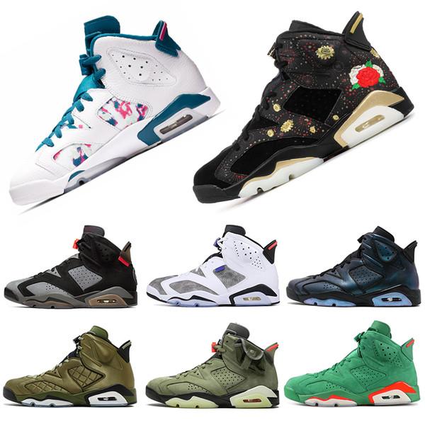 nike air jordan retro 6 aire hotsale Jordán retro 6 6s hombres zapatos de baloncesto CNY láser fucsia Gatorade PSG hombre del diseñador formadores zapatillas de deporte 7-13