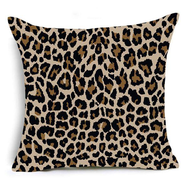 45x45cm único lado-leopardo animal 02