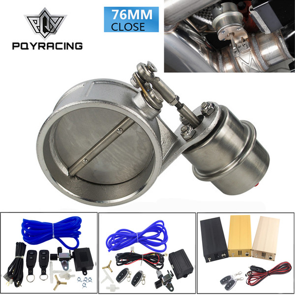 """best selling PQY - Exhaust Control Valve With Vacuum Actuator Cutout 3"""" 76mm Pipe CLOSED with ROD with Wireless Remote Controller Set PQY-ECV04+ROD+ACC"""