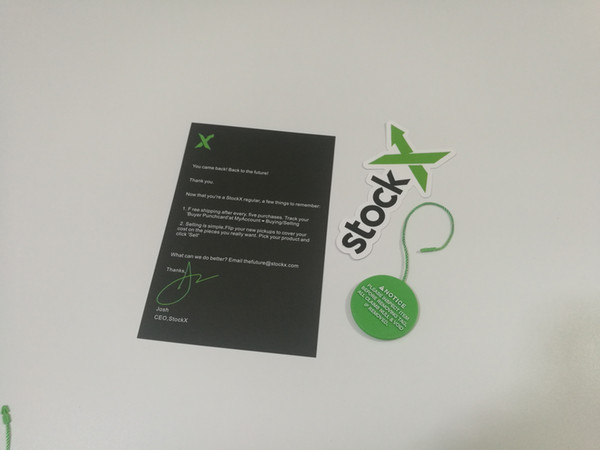 Wholesale Convas StockX Green Tag Verified Authentic QR Code OW Shoeslaces Off Zip Tie Stock X Tag Sticker Card Lace