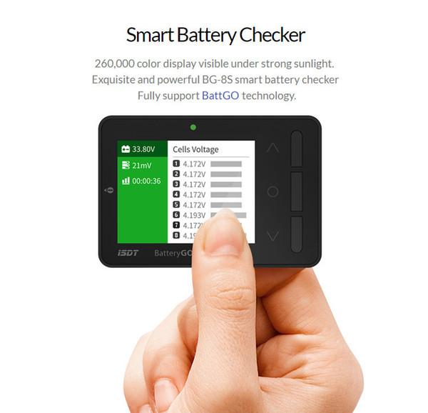 Isdt Battgo Bg-8s Smart Battery Checker Balancer Receptor Señal probador Función de carga rápida J190719