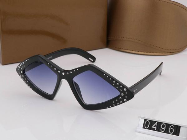 Woman Summer style brand medusa sunglasses half frame women brand designer uv protection clear lens vintage Bold Black Plastic Sunglasses GG