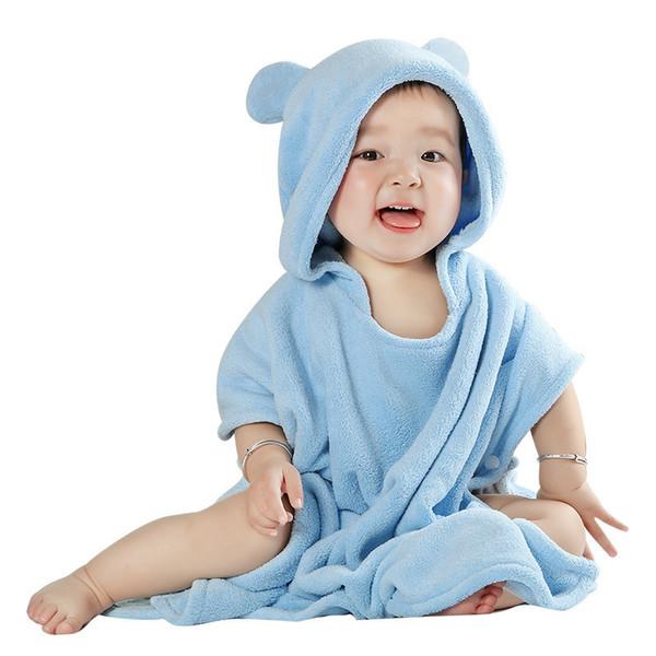 Baby Bath Towel Hooded Cloak Children's Bathrobes Absorbent Hooded Baby Bath Towel Super Soft Newborn Towel Cartoon Style