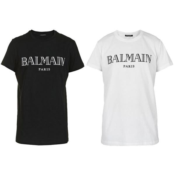 2019 Balmain T Shirts Clothing Designer Tees Blue Black White Mens Womens Slim Balmain France Paris Brand