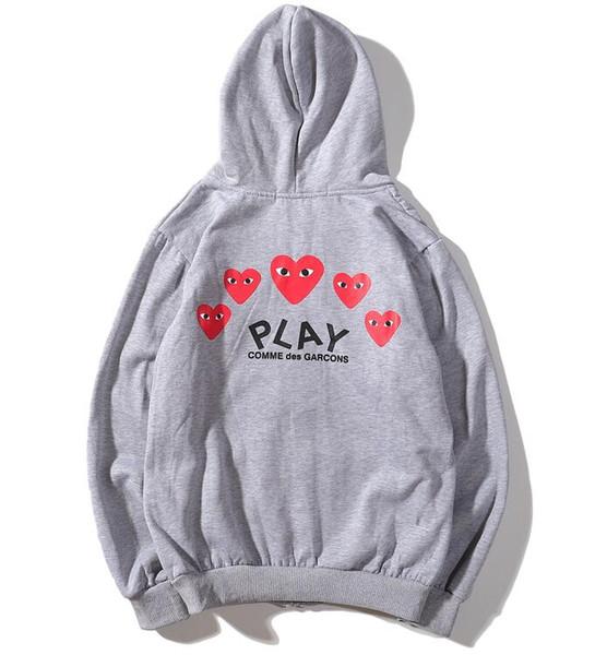 Sweatshirt Frauen Skateboard Japanische Großhandel Winter Herbst Hoodies Lässige Marke Luxus Designer Hip Paar Logo Hop Und Herz Rot Spielen Jacke Von hQdCrxtsBo