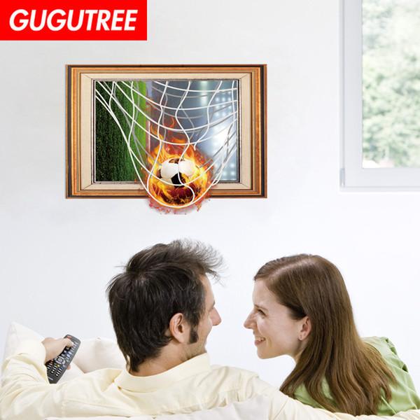 Decorate home 3D football cartoon art wall sticker decoration Decals mural painting Removable Decor Wallpaper G-958