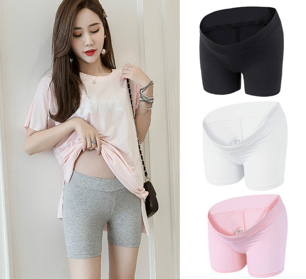 Pregnant Women Safety Pants Anti-light High Waist 2019 Short Leggings Pants Spring Summer Thin Stomach Lift Safety Shorts