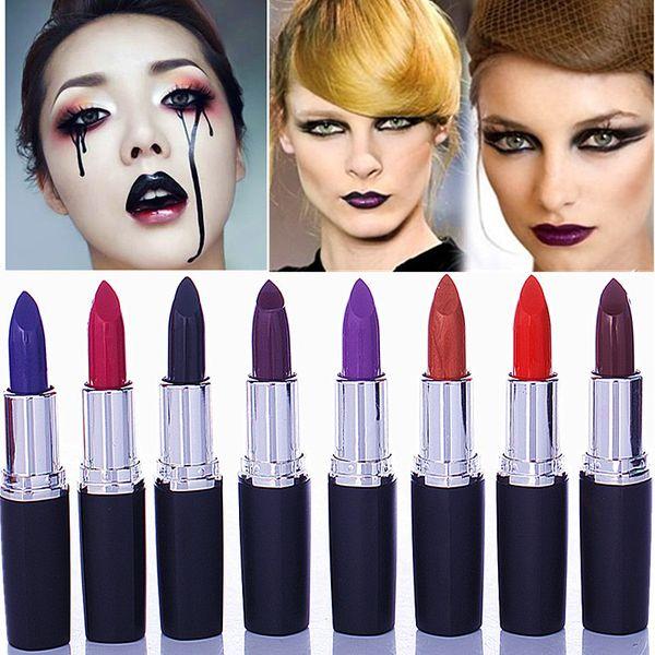 Sauce rose red aunt color lipstick vampire dark red black grape purple gothic charm purple blue black lipstick