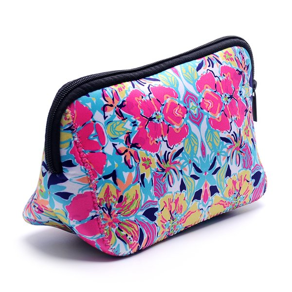 Wholesale Blanks Neoprene Lilly Clutch Crown Jewel Rose Confetti Coral Printing Cosmetic Bag Free Shipping DOM103529
