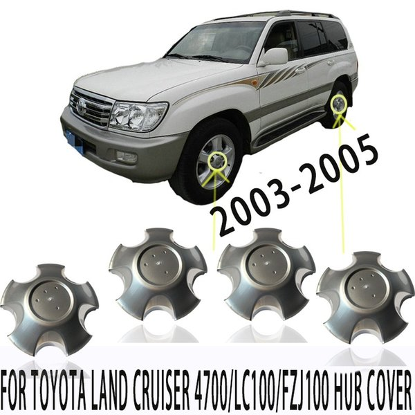4pcs WHEEL RIM CENTER CAPS for Tyota Land Cru*ser 4700/LC100/FZJ100 2003-2005 42603-60570 Hub cover