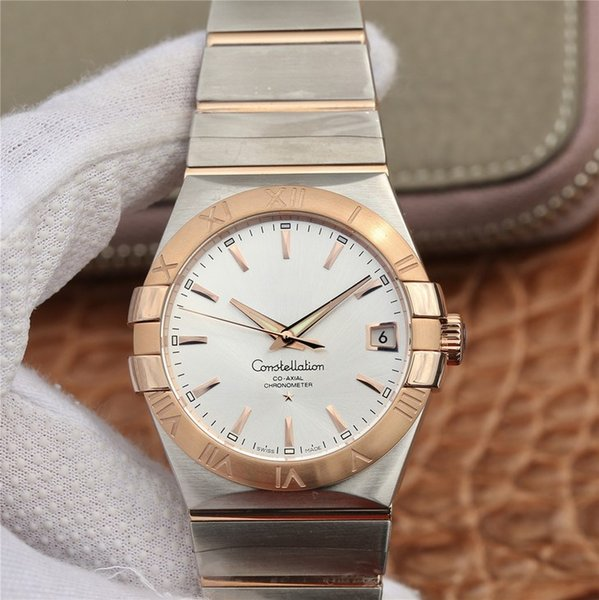 Brushed Solid 18k Rose Gold Bezel Engraved with Roman Numeral Hour Markers Polished Solid 18k Rose Gold Claws/Griffes