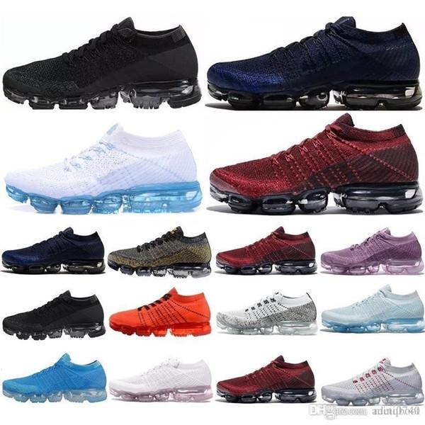 Compre Nike Vapormax 2019 Nuevo Hot Hombre Mujer 2.0 2 Platino Negro Blanco Tenis Tenis Plyknit Trainer Calzado Casual EUR Tamaño 36 45 A $45.99 Del