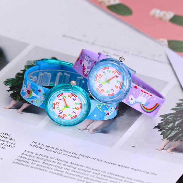 3D Karikatür Dinozor Izle stilleri 11 çeşit Yumuşak Silikon Watchband Saatler Çocuk Çocuk Kız Öğrenciler Kuvars Saatı Çocuklar Hediyeler Yeni