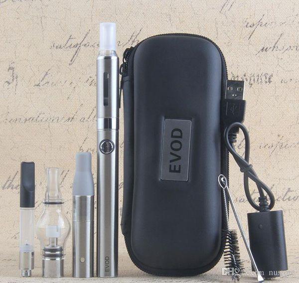 4in1 eVod Vaporizer kit UGO V II 510 Battery Dab Shatter Wax Pen eGo CE4 Eliquid Ago Dry Herb CE3 Thick Oil Vape Cartridge Starter Kits