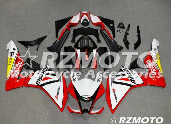 Qualidade OEM Novo ABS Carenagem Completa Kits apto para Aprilia RSV4 1000 2010 2011 2012 2013 2014 Carroçaria conjunto Personalizado Vermelho Branco