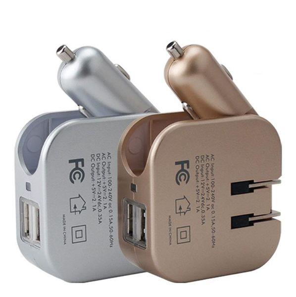 araba ev için CE FCC AI akıllı seyahat Şarj 2.1a çift USB portları araç şarj işlevli ABD, AB İngiliz yönetmelikler açılan şarj Adaptörleri