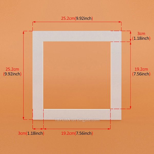 Beyaz kare 10x10 inç