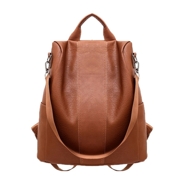 wholesale Retro Women Leather Backpack College Preppy School Bag for Student Laptop Girls Ladies Daily Back Pack Shop
