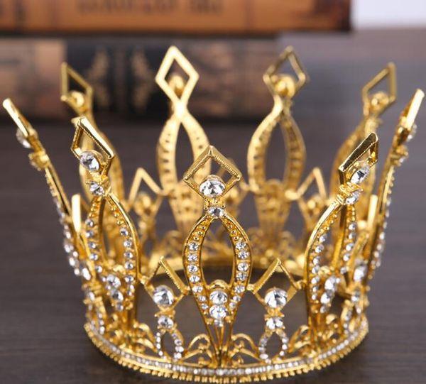 Rei do ouro europeu coroa a noiva todo círculo de nobre desempenho coroa decoração estúdio tiro acessórios