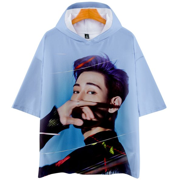 3D GOT7 Nueva ropa de verano Casual Camisetas frescas Mujer / Hombre Ropa 2019 tops Venta caliente con capucha mangas cortas camisetas más tamaño xxl