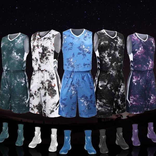 2018 Men&kid DIY Customized Basketball Set Uniforms Kits Sports Clothes Cheap College Basketball jerseys T-shirt and Shorts C18122501