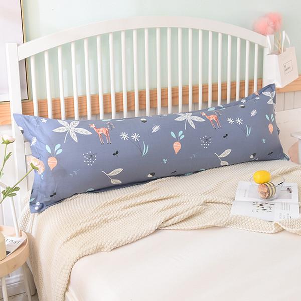 Cotton dos desenhos animados Pillow tampa do zipper longo de Fronhas Fronha Duplo fronha Roupa de cama 46 * 150 centímetros #sw