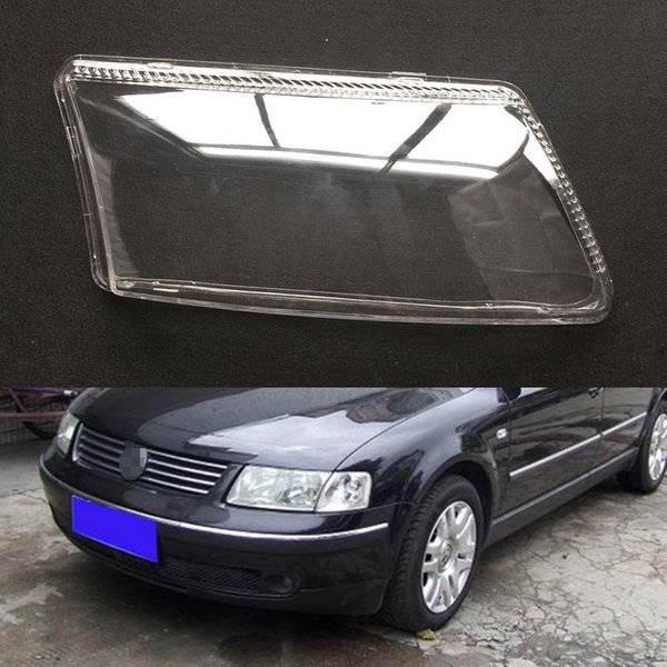 For Volkswagen VW Passat B5 Transparent Car Headlight Headlamp Clear Lens Auto Shell Cover