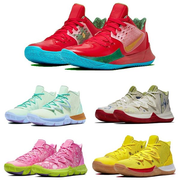 2019 Kyrie Spongebobs Collection Basketball Shoe All Szie 7-12 For Sale Best Quality Kyrie 5 Sneakers Trainer Shoes With Box