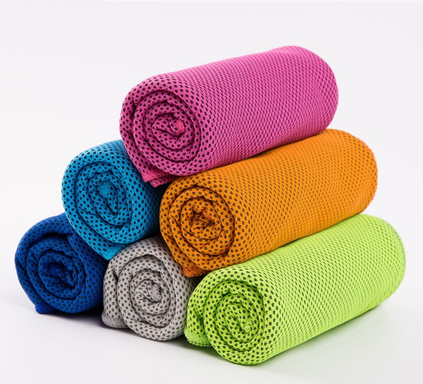 Gifts package Cold Towel Summer Sports Ice Cooling Towel Double Color Hypothermia cool Towel 30*100cm for children Adult sports Towels 2933