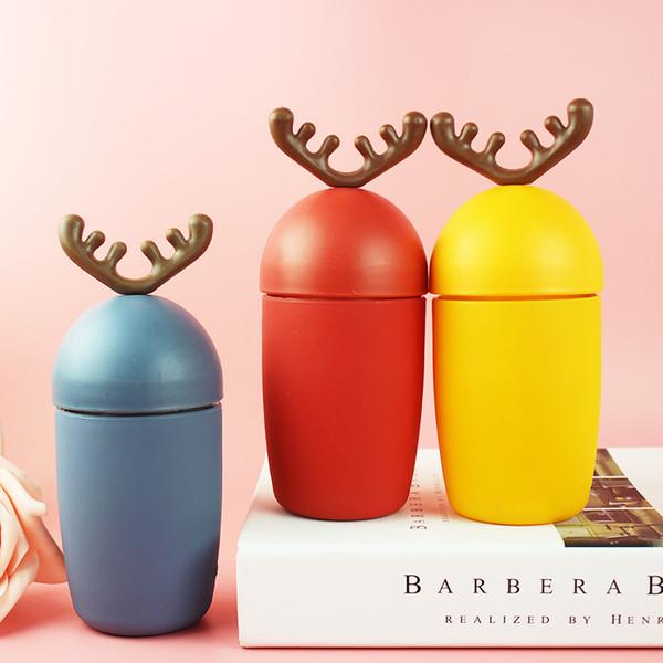 Cute Christmas Water Bottles Bester Verkauf Geschenke Christmas Deer Wählen Sie aus drei Farben Portable Student Deer Verkauf