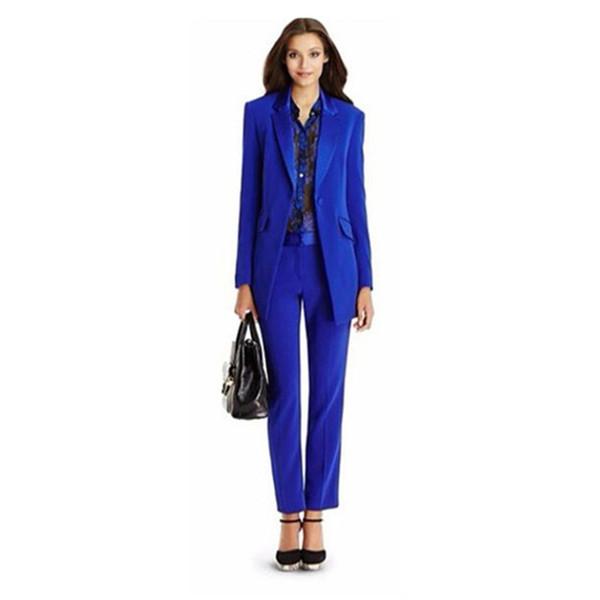 Ladies Business Jacket + Pants Ms. Business Pant Office Uniform Style Women Pants Suits Custom Pants Suits