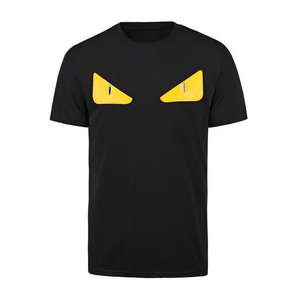 Maré Das Mulheres Dos Homens de manga curta camiseta pouco monstro engraçado olhos dimond impressão 100% algodão homens cool t shirt verão moda streetwear Tops