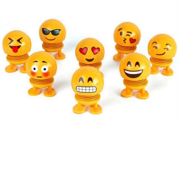 Enfants Jouets Emoji Shaking Head Poupée De Voiture Tableau De Bord printemps ornements Nouveauté Drôle Danse Jouet De Voiture De Bureau De La Maison Décoration CLS819