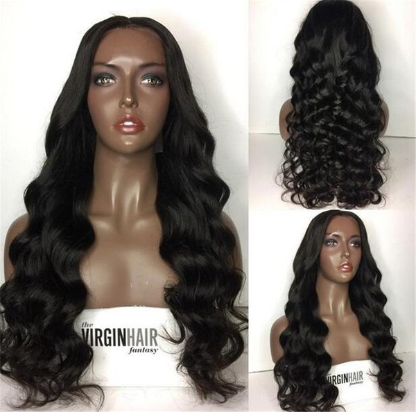 150% Density Pre Plucked Full Lace Human Hair Wigs For Women Black Brazilian Glueless Full Lace Body Wave Wig
