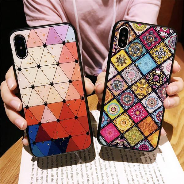 New Glitter Powder TPU-Handy-Fall-Abdeckung für iphone xs max xr x 6s 7 8 plus Bling Bling Shiny Epoxy Soft Case für Oppo R11 R9 R15