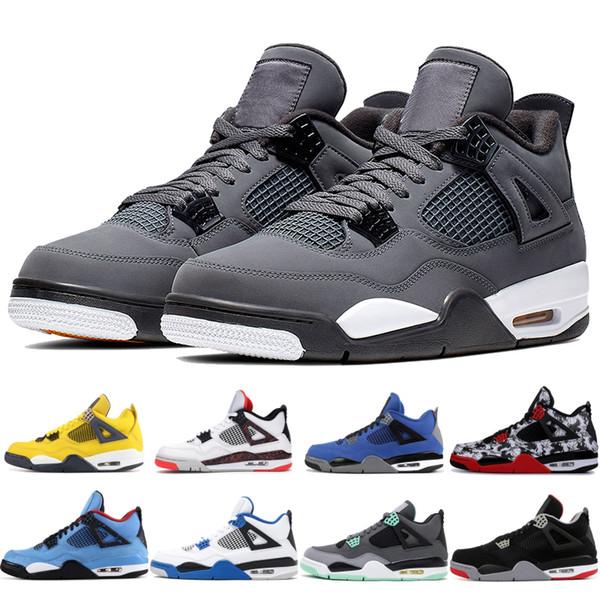 top popular Cool grey Men Mens 4 4s basketball shoes Lightning Eminem Encore Cactus jack tatoo Volt green grow Designer trainers sneakers 5-13 2019