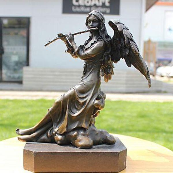 cuivre série musique de flûte sculpture artisanat en bronze comme ornements maison Ameublement cadeaux d'affaires décoration décoration