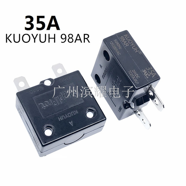 top popular Taiwan KUOYUH 98AR-35A Overcurrent Protector Overload Switch Automatic Reset 2021