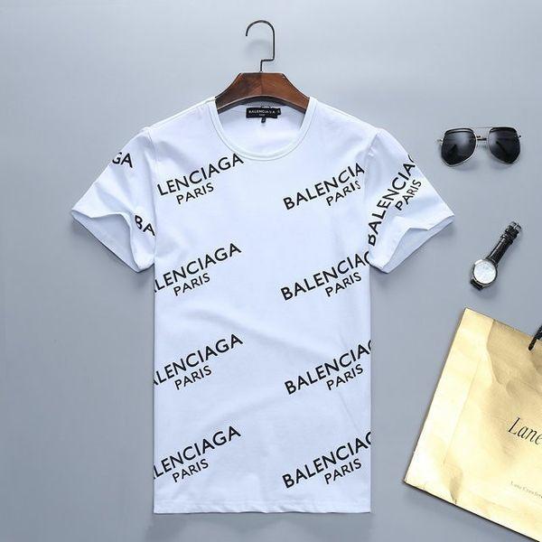 2019 novos homens de alta qualidade de algodão high-end T-shirt 01892 #