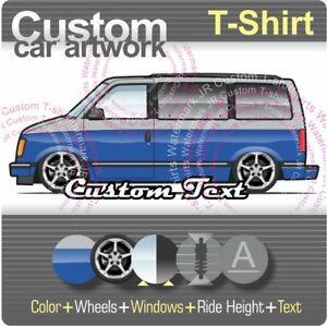 Custom T shirt 85 89 90 91 92 94 Chevrolet Astro GMC Safari short window van LT