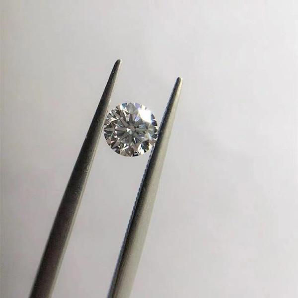 1pc 1 DF Lab Moissanite Stein VVS1 Perfekte Rundschnitt loser Stein-Diamant-Ring für Frauen Anhänger Herstellung feiner Jewerly Grown